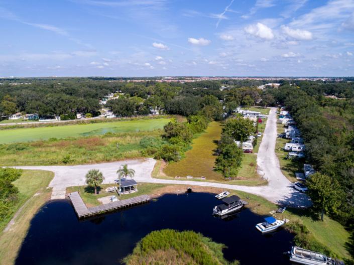overhead lake access
